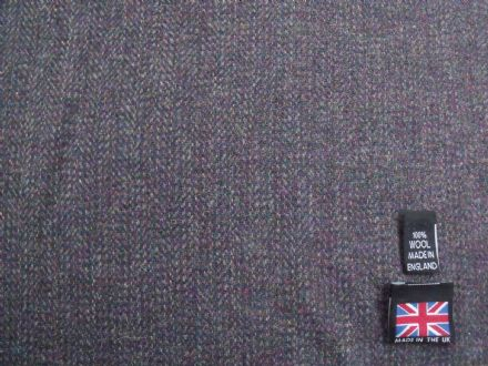 100% Pure New Wool Classic Tweed Fabric BZ31